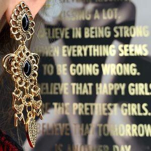 Fashion drop dangle clip on earring